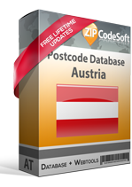 Postcode database Austria