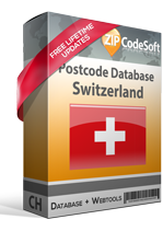 Postcode database Switzerland