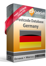 Postcode database Germany