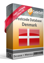 Denmark Postcode Database
