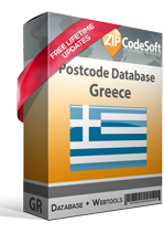 Greece Postcode Database