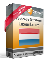 Postcode Database Luxembourg