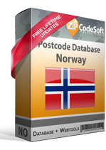 Postcode database Norway