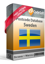 Postcode database Sweden