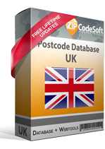 Postcode database UK