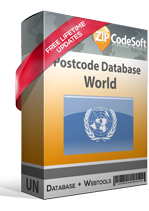 Postcode database World